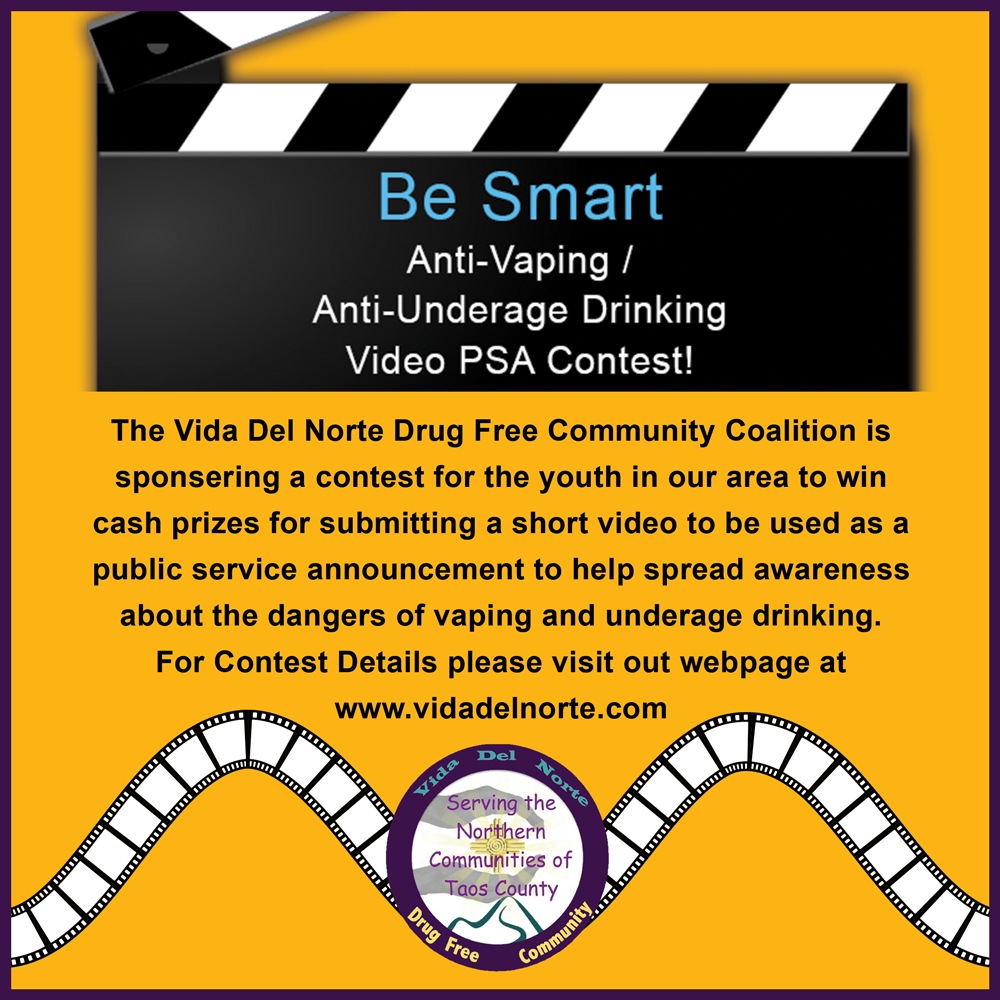 anti vaping anti underage drinking psa contest announcement