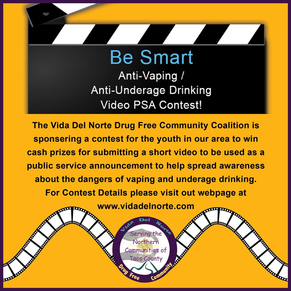 anti vaping anti underage drinking psa contest announcement