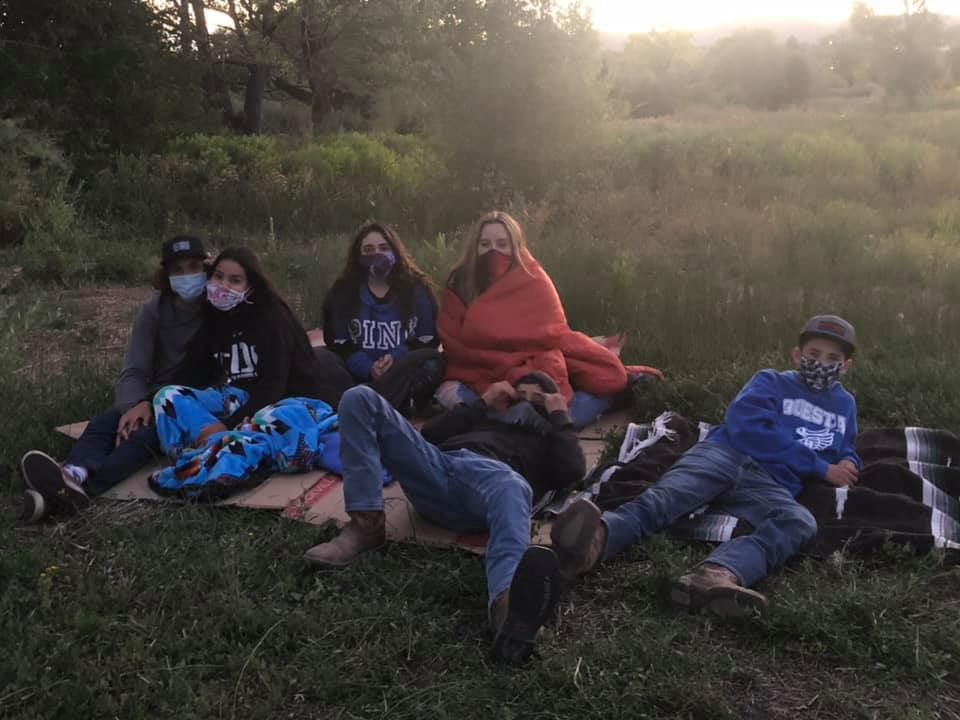Active8 Youth at Movie Night in Questa